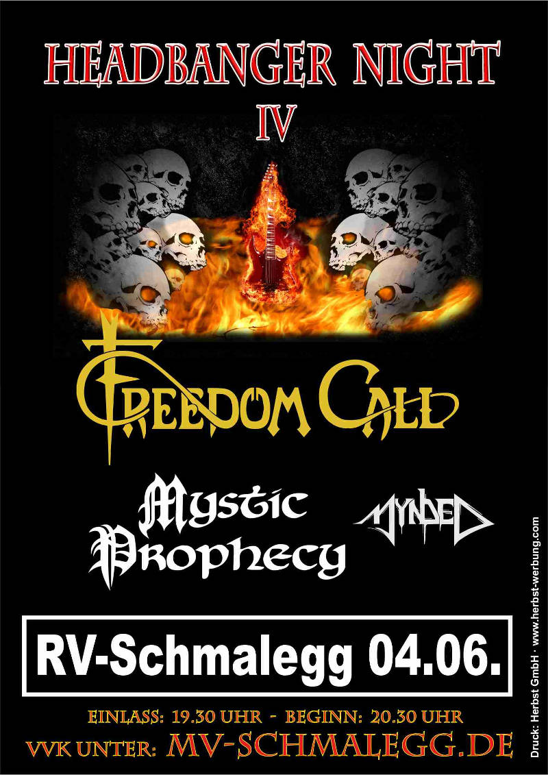 Plakat Headbanger Night 2017