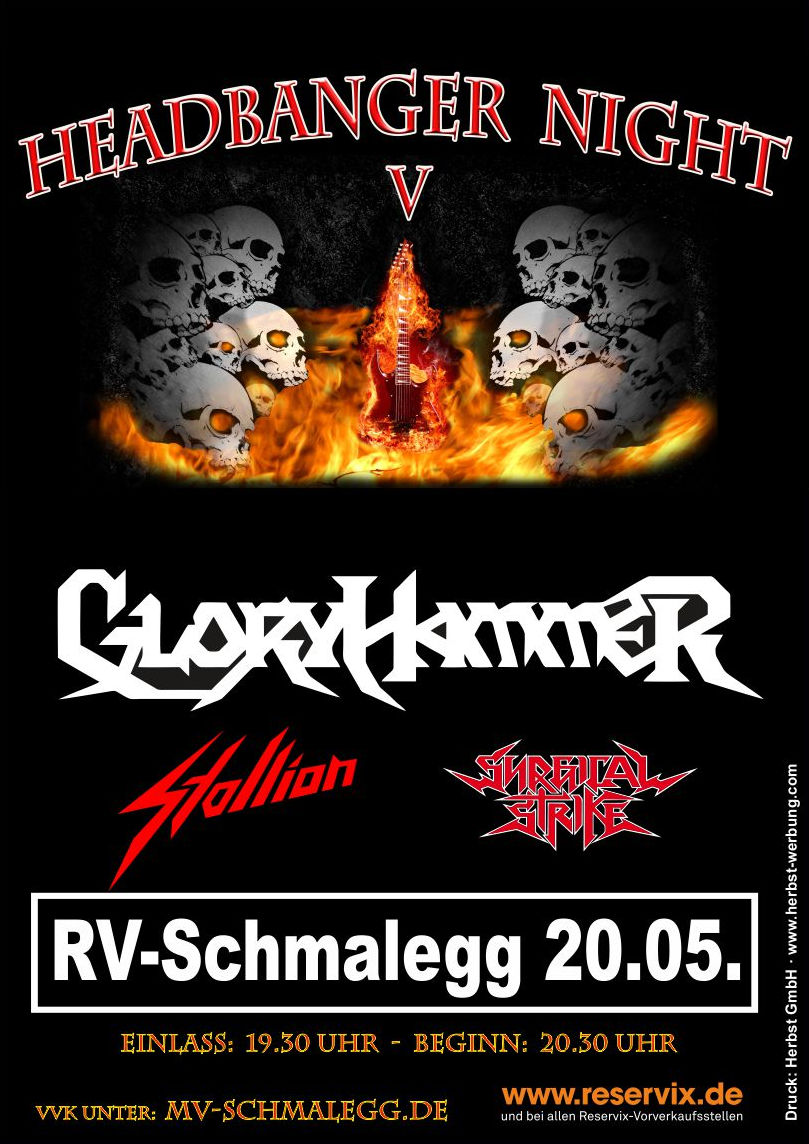 Plakat Headbanger Night 2018