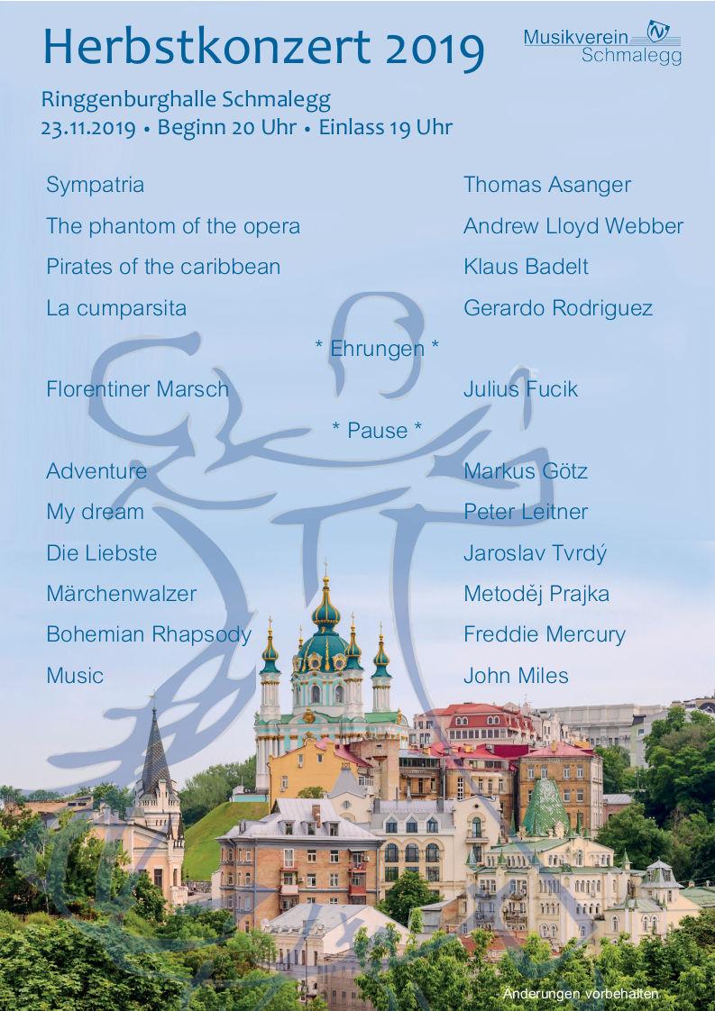 Plakat Herbstkonzert 2019