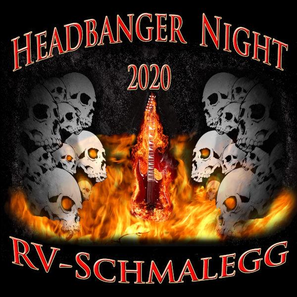 Print Headbanger T-Shirt 2020 Front