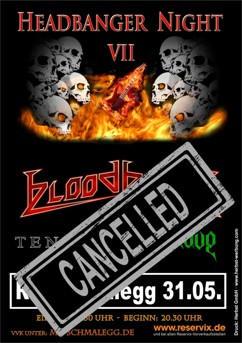 Plakat Headbanger Night 2020 (cancelled)